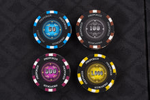 Pro Poker Chips Set - 14g 500 Piece Numbered Poker Set & Accessories