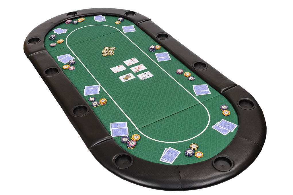 Classic Folding Poker Table Top in Green Speed Cloth and Case – 200cm