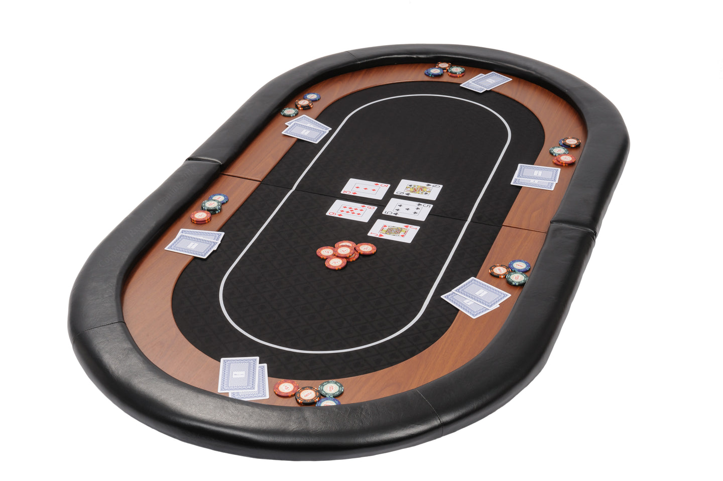Champion Folding Poker Table Top in Black Suited Speed Cloth - 153cm