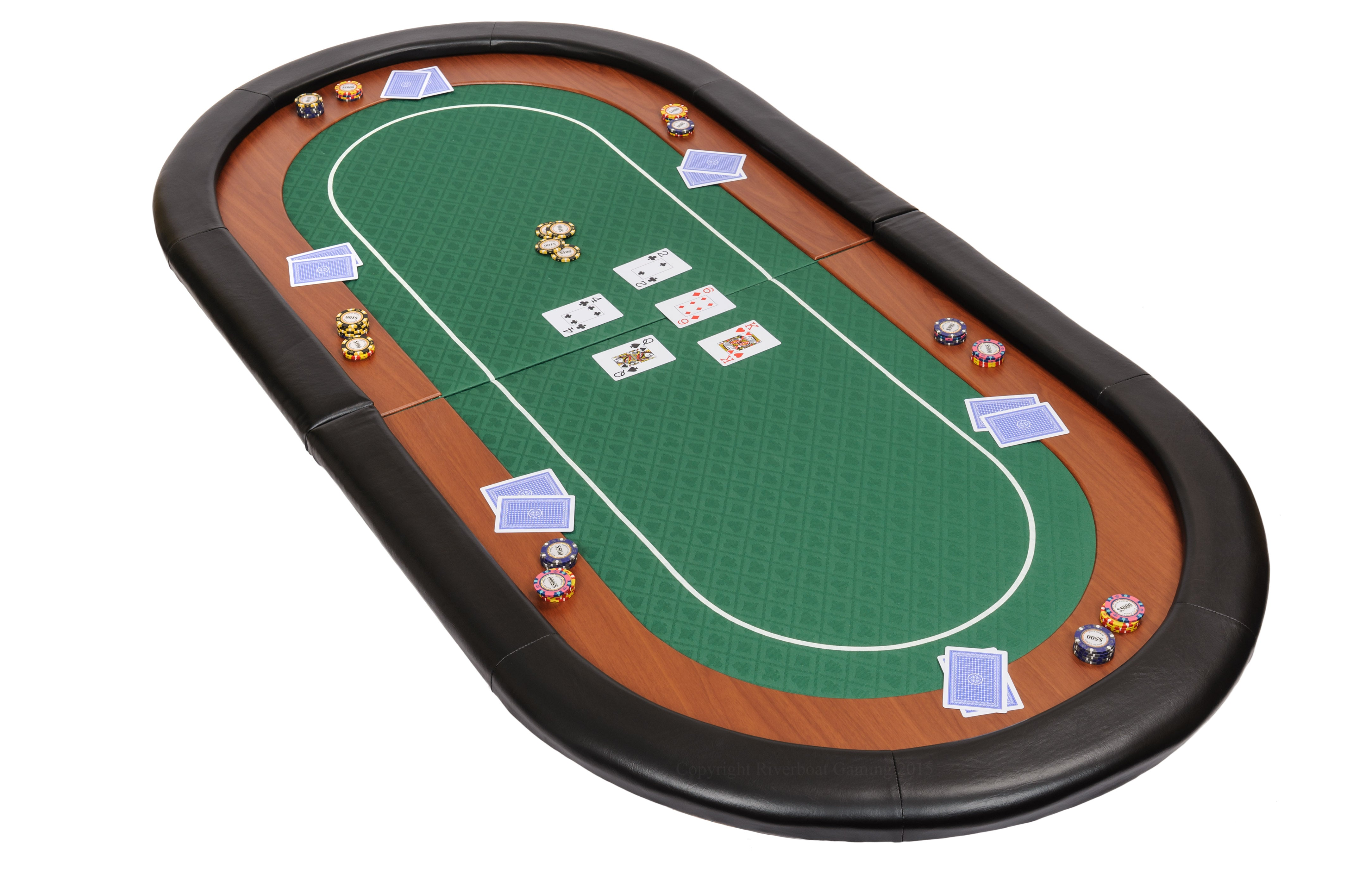 Compact Champion Folding Poker Table Top in speed cloth - 9cm