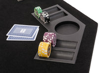 Octagonal Folding Poker Table Top with Carry Bag – 120cm Black