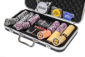 WPC Poker Chips Set - 300 Piece Numbered Poker Set (Free Accessories) - SALE - Was £44.99