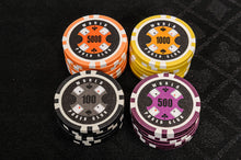WPC Poker Chips Set - 500 Piece Numbered Poker Set (Free Accessories)
