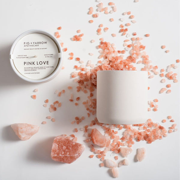 Pink Love Candle