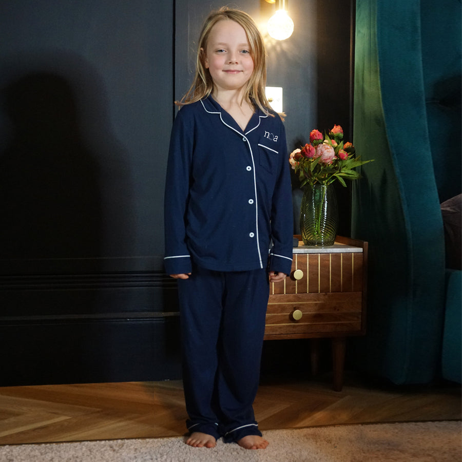 Navy Kids Pyjama Set