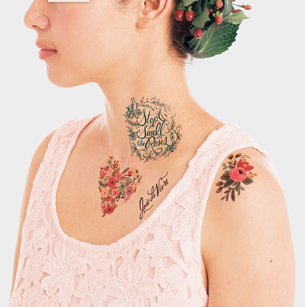bachelorette temporary tattoo