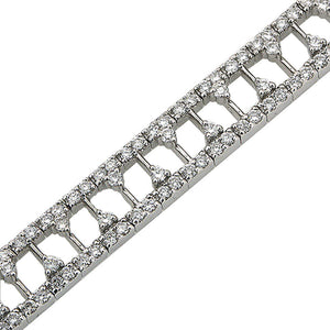 ANTIQUE REPRODUCTION DAZZLING DIAMOND BRACELET IN 18K WHITE GOLD 4.51CTW