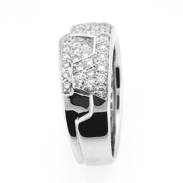DIAMOND RIGHT HAND RING BAND 18K WHITE GOLD 1.03CTW