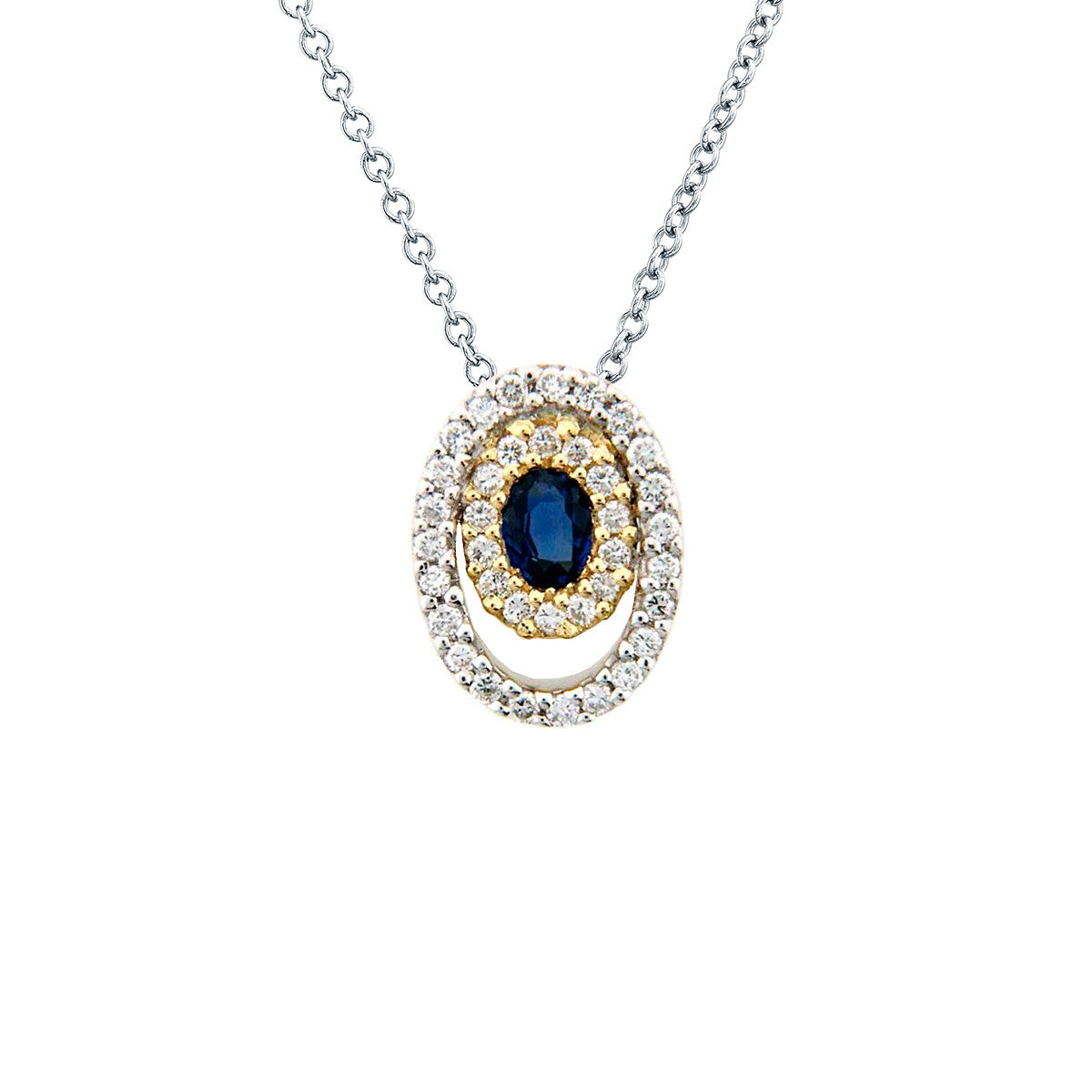 sappbire necklace index yellow white compass rose gold sapphire diamond