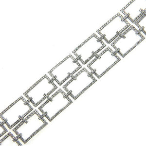 VINTAGE ANTIQUE DESIGN DIAMOND BRACELET 18K WHITE GOLD 4.20CTW