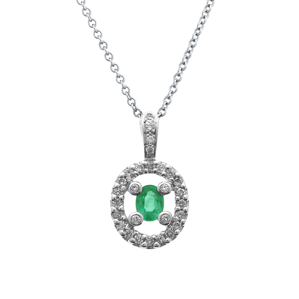 diamond maribel emerald pendant
