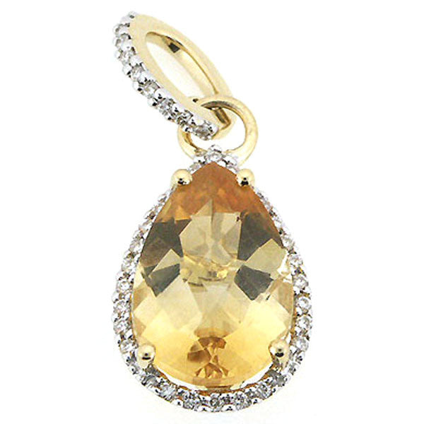 gold item ring yellow diamond citrine triple and heart