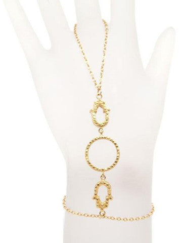 Hamsa Double Brass Plated Gold