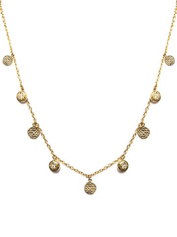 Sri Yantra Coin Drop Necklace