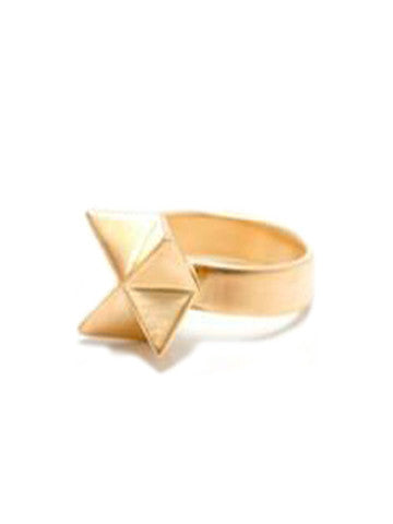 Sacred Geometry Star Ring-Vermeil
