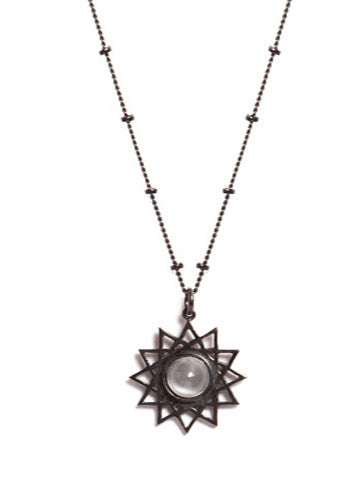 Dodecagram Necklace Sterling Plated Gunmetal