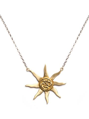Om Sun Necklace
