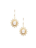Dodecagram Moonstone Earrings