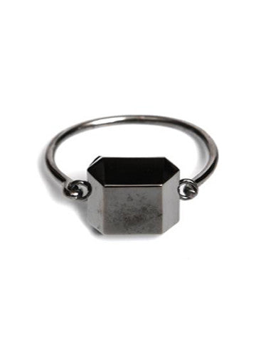 Octagon Sacred Geometry Brass Plated Bracelet- Gunmetal