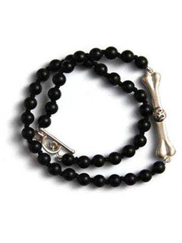 Double Wrap Bhakti Bar Bracelet- Black Onyx