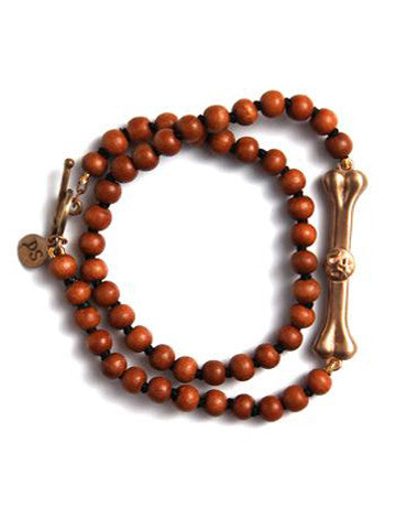 Double Wrap Bodhi Bar Bracelet- Sandalwood