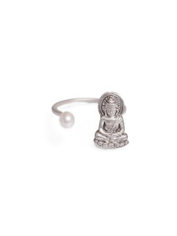 Buddha Ring w/ Pearl Sterling Silver