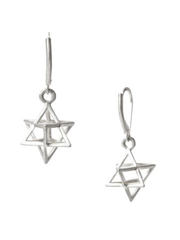 Star Tetrahedron Earrings (Sterling Silver)