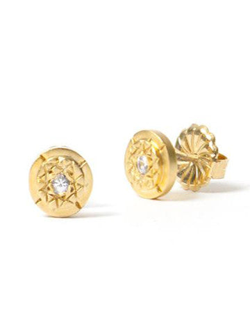 Sri Yantra Stud Earrings Vermeil