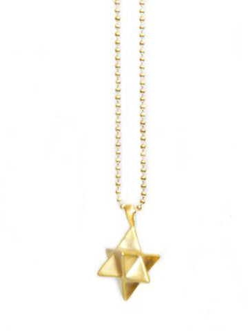 Star Tetrahedron Necklace Vermeil