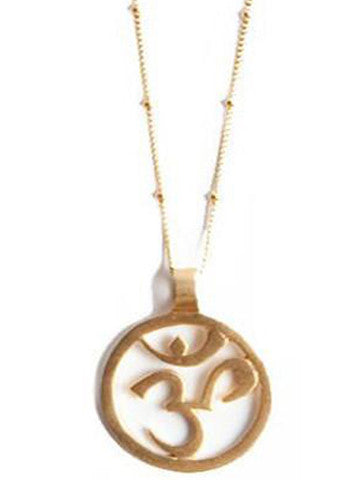 Om Pendant Necklace Vermeil