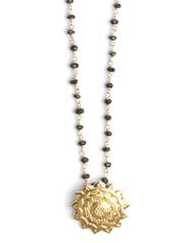 Sri Yantra Black Spinal Necklace