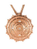 Sri Yantra a Large Pendant Elaborate with 5 White Sapphires
