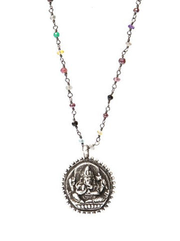 Multi-stone Ganesha Necklace