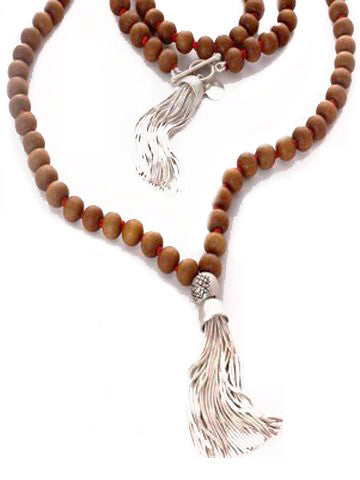 Mala Sandalwood with Sterling Silver Tassel