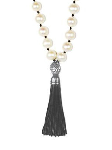 Mala Pearl with Sterling Silver Tassel