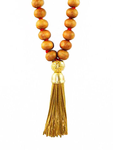 Mala Sandalwood with Vermeil Tassel