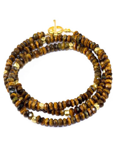 Triple Wrap Bracelet- Tiger Eye