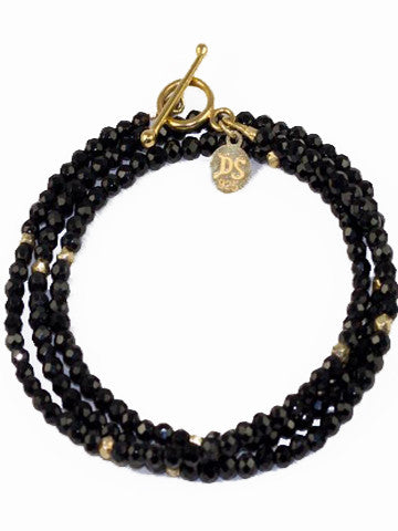 Triple Wrap Bracelet- Black Onyx