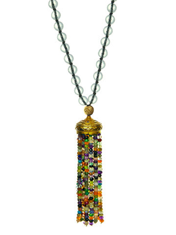 Mala- Crystal with Multicolor Tassel