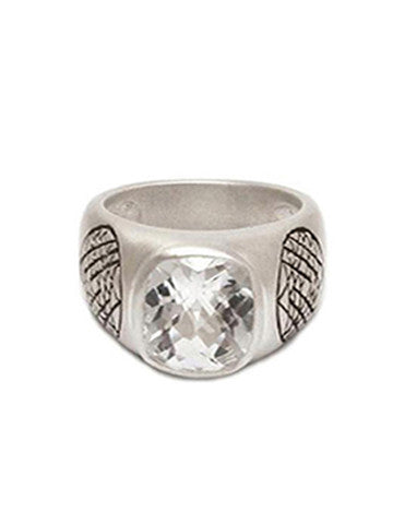 Sri Yantra Stone Ring-Sterling Silver