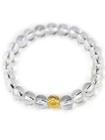 Sri Yantra Stretch Gemstone Bracelet- Crystal