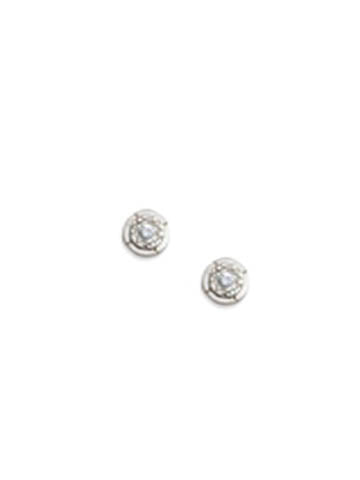 Sri Yantra Stud Earrings Silver