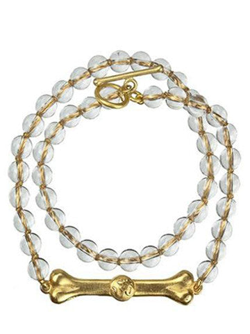 Double Wrap Skye Bar Bracelet- Crystal