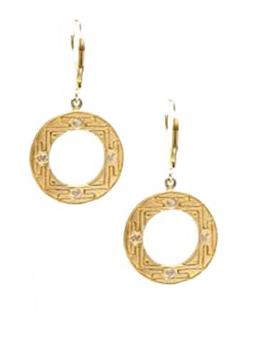 Sri Yantra-E73V Earrings