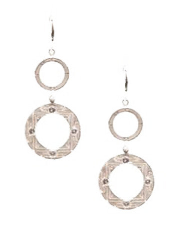 Sri Yantra-E74S Double Hoop Earrrings