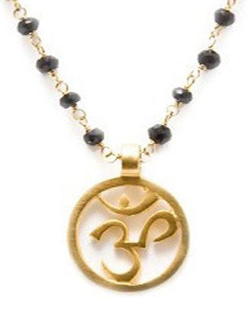OM Necklace Black Spinal
