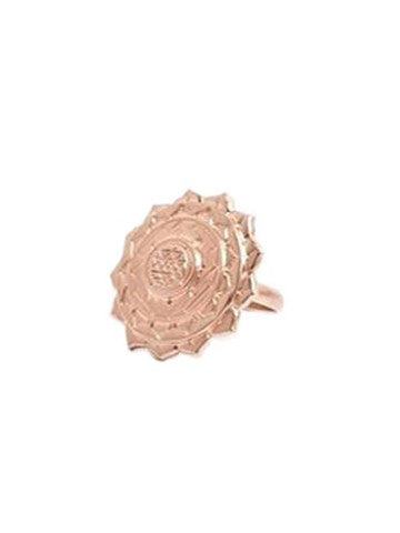 Sri Yantra Ring-Rose Gold Vermeil
