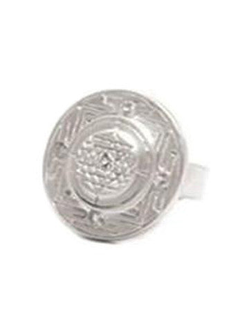 Sri Yantra Ring- Sterling Silver