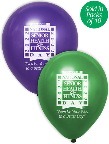 National Senior Health & Fitness Day® Balloons