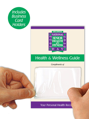 Senior Health & Wellness Booklets with Free Business Card Holders